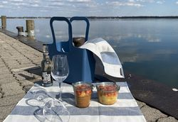 Picknickkorb auf der Insel Wilhelmstein am Steinhuder Meer